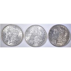 3-MORGAN DOLLARS: