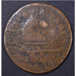 1786 POST COLONIAL COPPER COIN, STRAIGHT PLOW