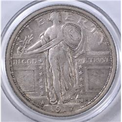 1917 STANDING LIBERTY QUARTER TYPE 1  XF
