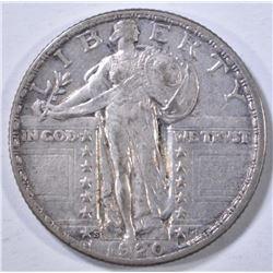 1920-S STANDING LIBERTY QUARTER  AU
