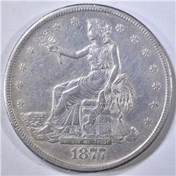 1877-S TRADE DOLLAR  AU