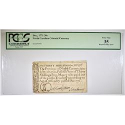 1771 30 SHILLINGS COLONIAL CURRENCY  PCGS VF-35