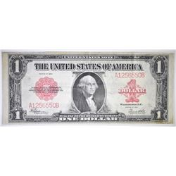 1923 $1 U. S. NOTE  RED SEAL  VF/XF