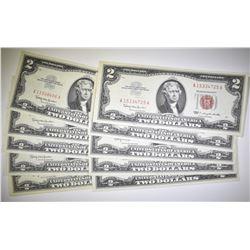 10  1963 $2 U.S. NOTES