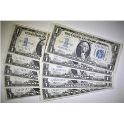 10 1934 $1 SILVER CERTIFICATES  XF+