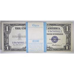 ORIGINAL PACK OF 100 1935-F $1 SILVER CERTIFICATES