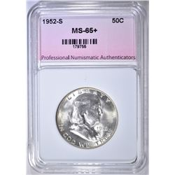 1952-S FRANKLIN HALF DOLLAR PNA GEM BU+