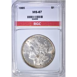 1885 MORGAN DOLLAR BGC SUPERB GEM