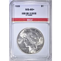 1926 PEACE DOLLAR BGC GEM BU+
