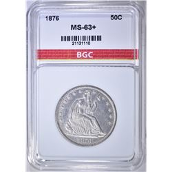 1876 SEATED HALF DOLLAR BGC CH BU+