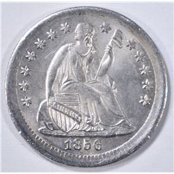 1856 SEATED LIBERTY HALF DIME  GEM BU