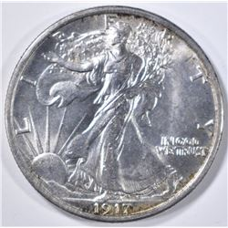 1917 WALKING LIBERTY HALF DOLLAR  GEM BU