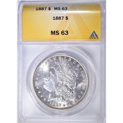 1887 MORGAN DOLLAR ANACS MS-63