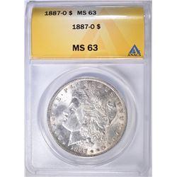1887-O MORGAN DOLLAR ANACS MS-63
