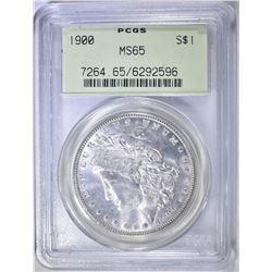 1900 MORGAN DOLLAR PCGS MS-65