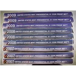 3-EACH 2007, 2008 & 2009 U.S PRESIDENTIAL PF SETS