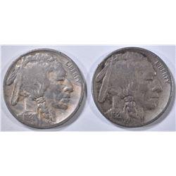 1921 & 1921-S BUFFALO NICKELS  FINE