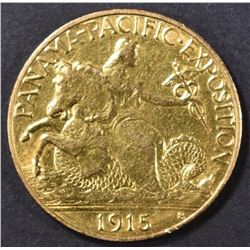 1915-S $2.5 PAN PAC COMMEM GOLD   AU