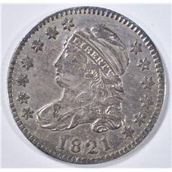 1821 BUST DIME   XF