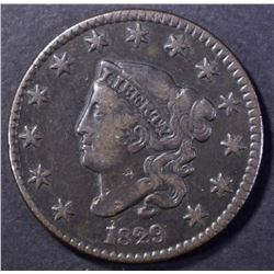 1829 MATRON HEAD LARGE CENT VF NICE, LRG LETTERING