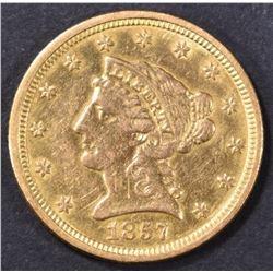 1857-O $2.5 GOLD LIBERTY  CH AU