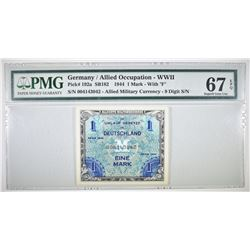 1944 1 MARK ALLIED MILITARY CURRENCY PMG 67 EPQ