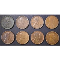 8 EARLY DATE LINCOLN CENTS