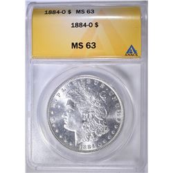 1884-O MORGAN DOLLAR ANACS MS-63