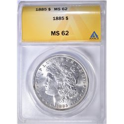 1885 MORGAN DOLLAR ANACS MS-62