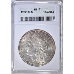 1902-S MORGAN DOLLAR ANACS MS-61
