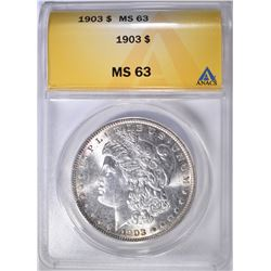 1903 MORGAN DOLLAR ANACS MS-63