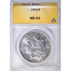 1904 MORGAN DOLLAR ANACS MS-61
