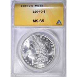 1904-O MORGAN DOLLAR ANACS MS-65