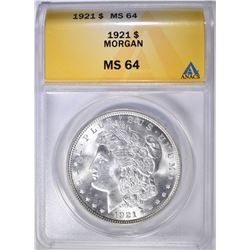 1921 MORGAN DOLLAR ANACS MS-64