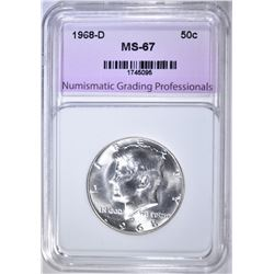 1968-D KENNEDY HALF NGP SUPERB GEM