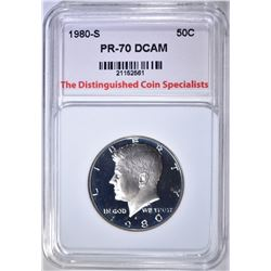 1980-S KENNEDY HALF, TDCS PERFECT GEM PR DCAM