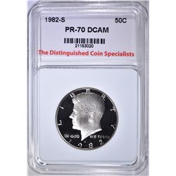1982-S KENNEDY HALF, TDCS PERFECT GEM PR DCAM