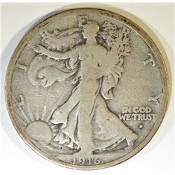 1916-D WALKING LIBERTY HALF G/VG