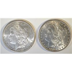 1881-S & 83 MORGAN DOLLARS BU