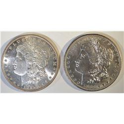1885 & 88-O MORGAN DOLLARS CH BU