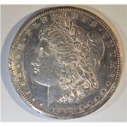 1892-CC MORGAN DOLLAR AU/BU RIM DAMAGE