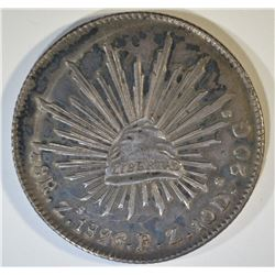 1896 ZS FZ MEXICO 8 REALES NICE,  ORIG TONING