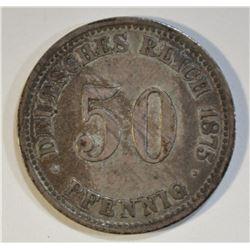 1875 GERMAN 50 PFENNIG
