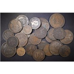 CANADIAN COPPER LOT: MOSTLY MID TO LATE 1800'S