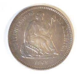 1861 HALF DIME CH AU