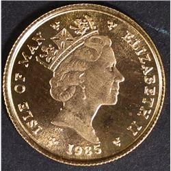 1985 1/10 oz GOLD ISLE OF MAN ANGEL