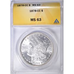 1878-CC MORGAN DOLLAR ANACS MS-63