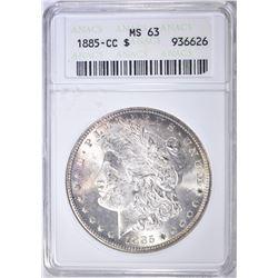 1885-CC MORGAN DOLLAR ANACS MS-63
