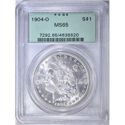 1904-O MORGAN DOLLAR, PCGS MS-65