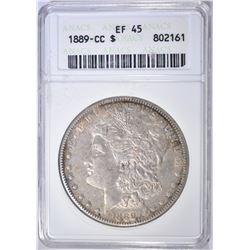 1889-CC MORGAN DOLLAR ANACS EF-45